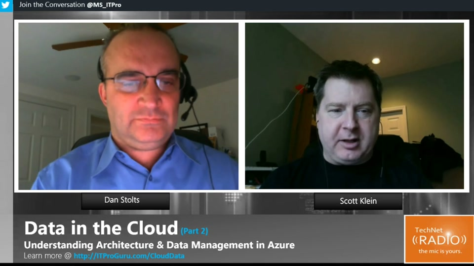 TechNet Radio: Data in the Cloud (Part 2) - Understanding Architecture and Data Management in Azure