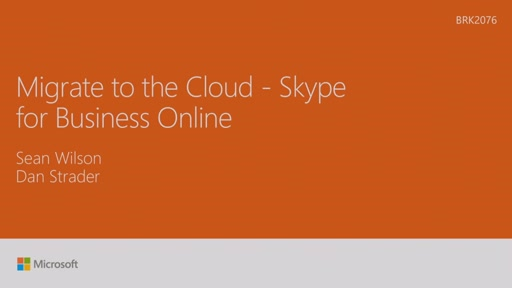 Migrate to the cloud - Skype for Business Online