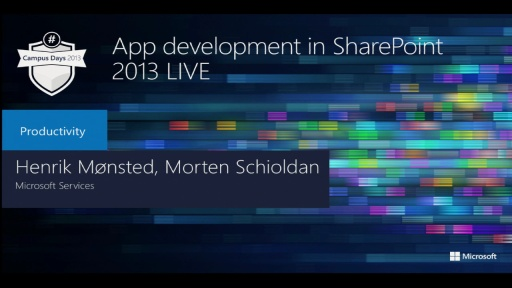 App development in SharePoint 2013 LIVE