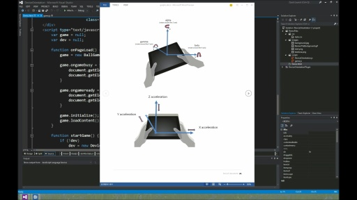 Demo: Prototype implementation of the W3C Device Orientation API