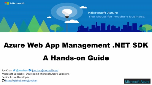 02 Juv Chan -Azure Web App Management .NET SDK - A Hands-on Guide