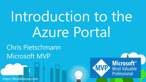 Introduction to the Azure Portal