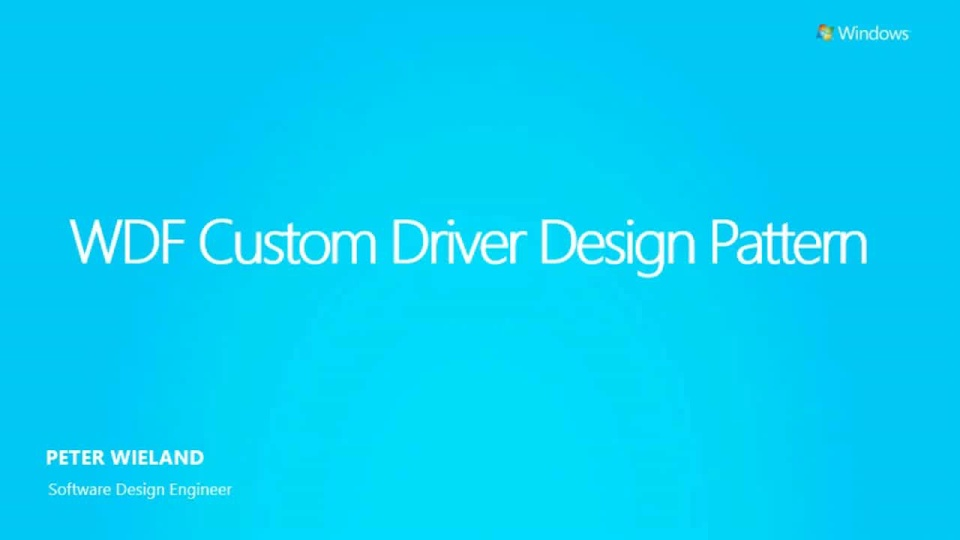 Custom Drivers in Windows 8