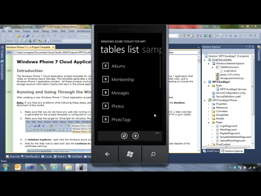 Getting Started with the Windows Azure Toolkit for Windows Phone 7