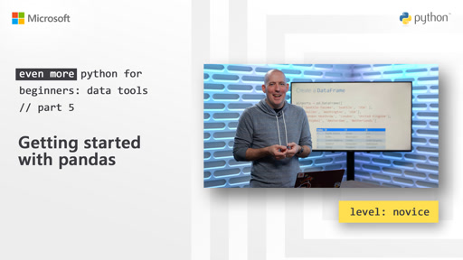 Getting started with pandas | Even More Python for Beginners - Data Tools [5 of 31]