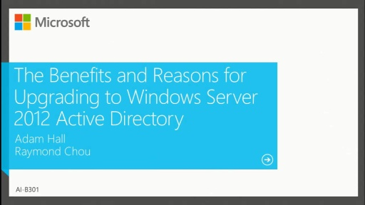 The Benefits and Reasons for Upgrading to Windows Server 2012 Active Directory