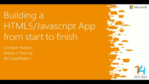 Building a HTML5/Javascript App from start to finish