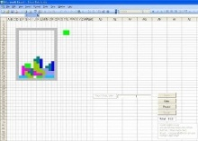 Seriously, I'm working with Excel, Tetris just happened to be there ...