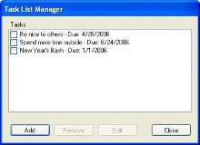 New Year's Task Manager