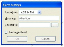 Creating an Alarm Clock in the System Tray