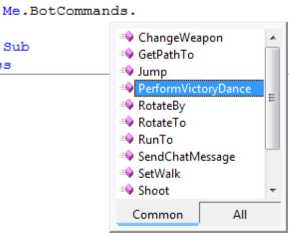 how to give a bot a weapon command