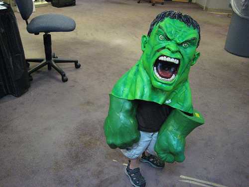 Ry as the Hulk
