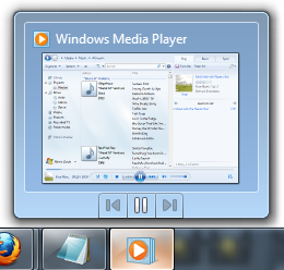 Windows Media Player preview with toolbar buttons for media control