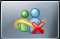 Windows Live Messenger with overlay for offline status