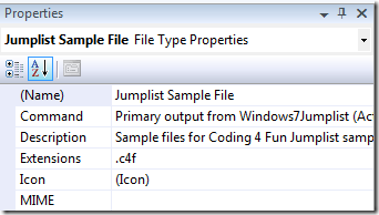 File type properties
