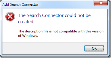 Search Connector error