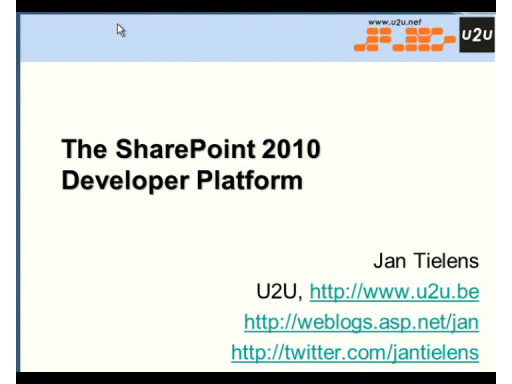 MSDN Live Meeting: SharePoint 2010 Developer Platform