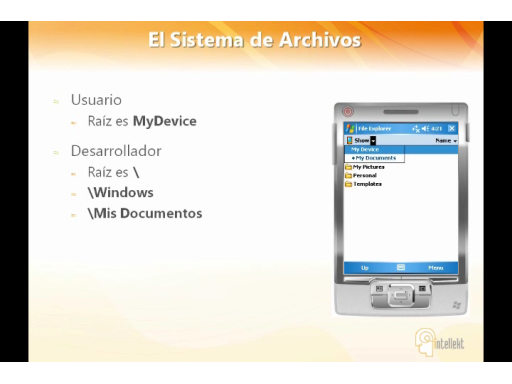 Windows Mobile 6.5 Sistema de Archivos
