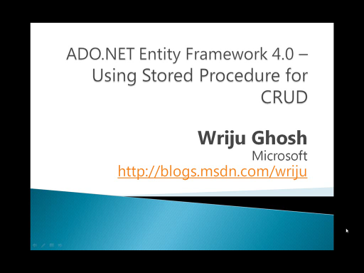 CRUD using Stored Procedure in ADO.NET Entity Framework 4.0