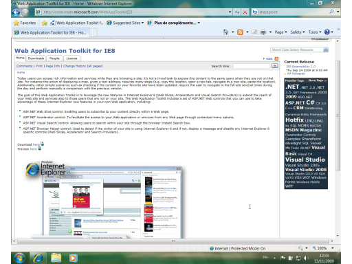 Web Application Toolkit IE8 Partie 1