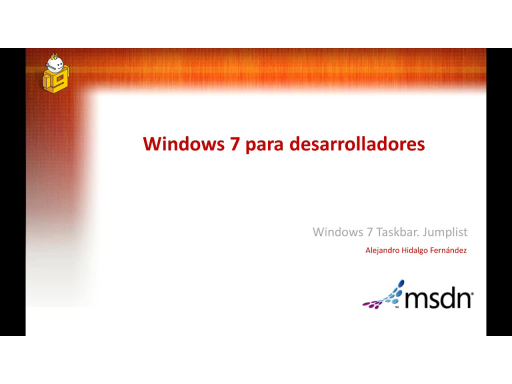 Windows 7 para desarolladores. Taskbar: Jumplist