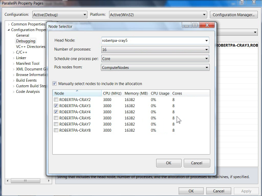 VS2010 MPI Cluster Debugger launch integration