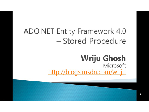 Using Stored Procedure in ADO.NET Entity Framework 4.0