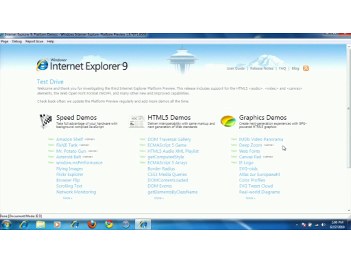 Internet Explorer 9 Platform Preview 3: A Look at the New Demos