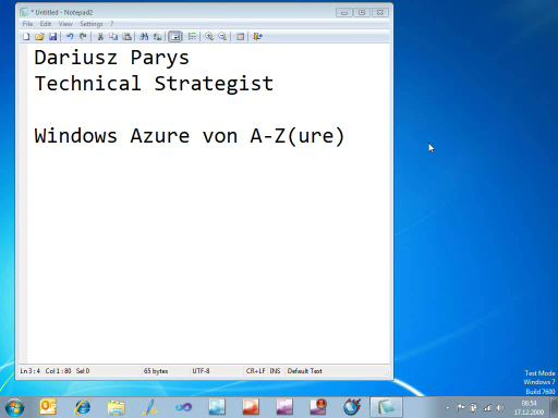 Windows Azure von A-Z(ure) - Teil 1