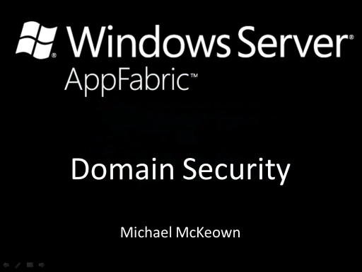 endpoint.tv - Windows Server AppFabric Domain Security