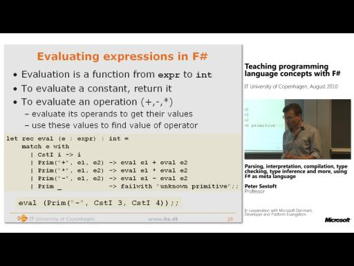 Teaching programming language concepts with F#, part 2