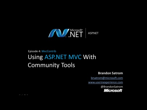 ASP.NET MVC With Community Tools Part 4: MvcContrib