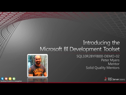 Demo: Introducing the Microsoft BI Development Toolset
