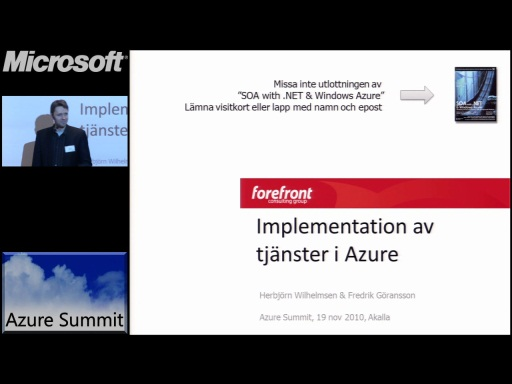 Azure Summit - Implementation av tjänster i Azure