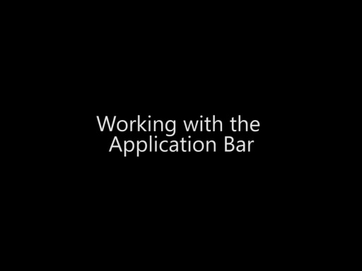 Working with the Application Bar - Day 3 - Part 4