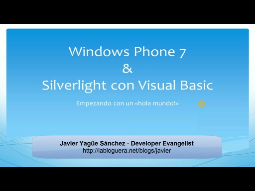 Crear una aplicación Windows Phone con Visual Basic