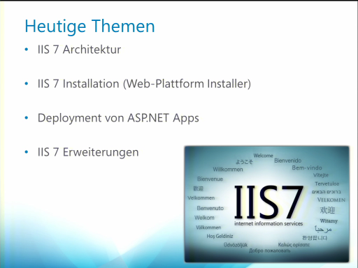 ASP.NET Webcast Teil 7: Publishing & Hosting in IIS 7