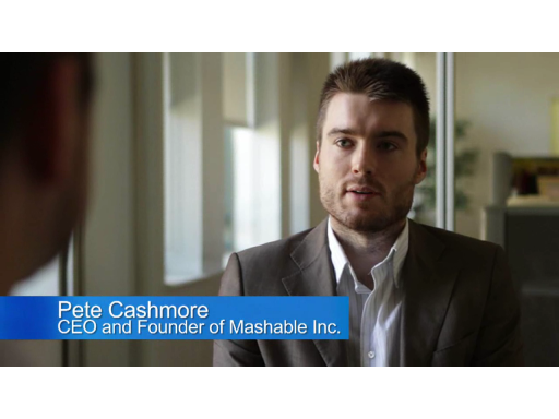 Mashable CEO Pete Cashmore Talks About Bing Maps Integration
