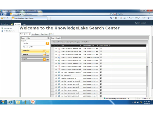 KnowledgeLake Demonstrates Silverlight-based Search Center