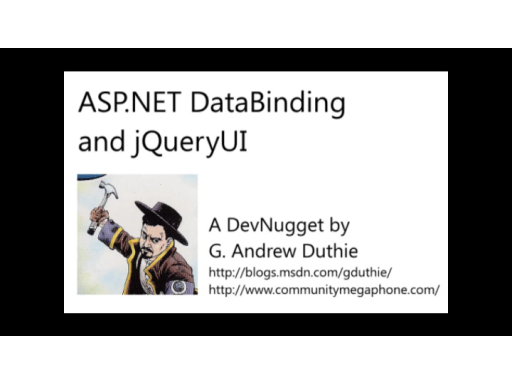 ASP.NET Databinding and jQueryUI