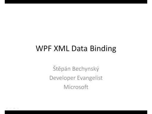 WPF XML Data Binding (CZ)
