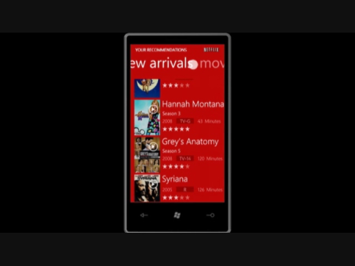 Windows Phone 7 Netflix Application: MIX 2010 Keynote