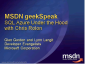 geekSpeak Recording - SQL Azure Under the Hood with Chris Rolon