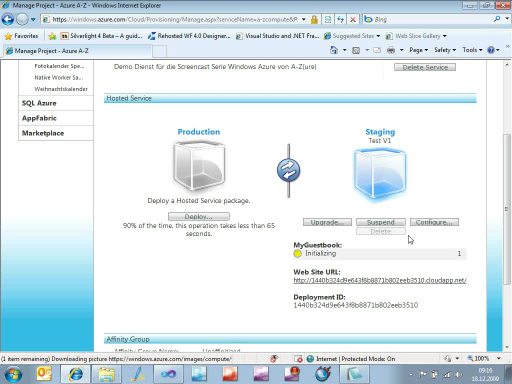 Windows Azure von A-Z(ure) - Teil 3