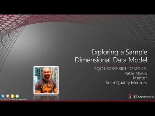 Demo: Exploring a Sample Dimensional Data Model