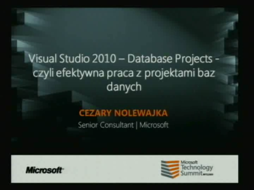 Visual Studio 2010 – Database Projects