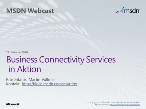 Business Connectivity Services in Aktion