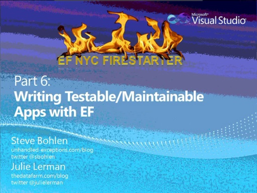 Entity Framework Firestarter - Session 6 (of 6)