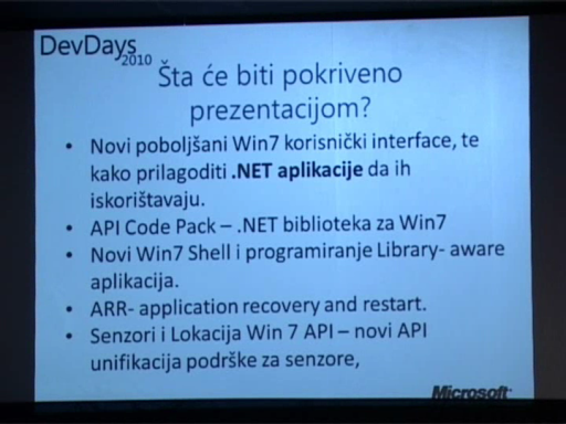 DevDays 2010: Developing for Windows 7 - Bahrudin Hrnjica