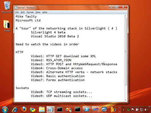 Silverlight 4 Beta Networking. Part 12 - WCF and Polling HTTP